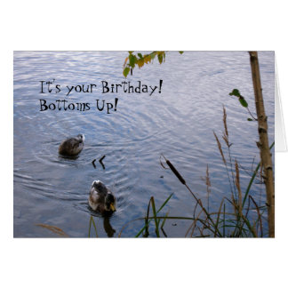 Happy Birthday Wood Ducks Card