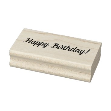 USA Themed Happy Birthday Wooden Block Mounted Rubber Stamp