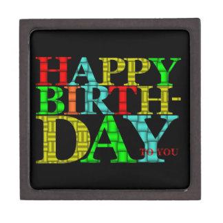 Happy Birthday Wooden Gift Box