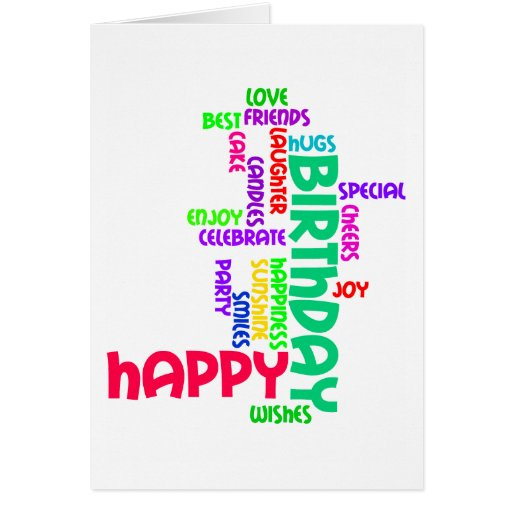 Happy Birthday Word Cloud Card