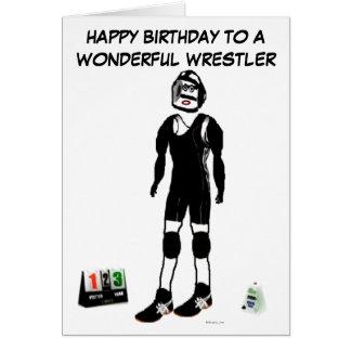 Happy Birthday Wrestler Greeting Card