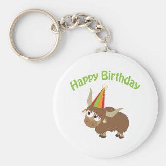 Happy Birthday Yak Keychain