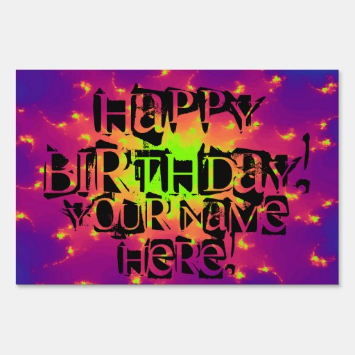 Happy Birthday! Yard Sign