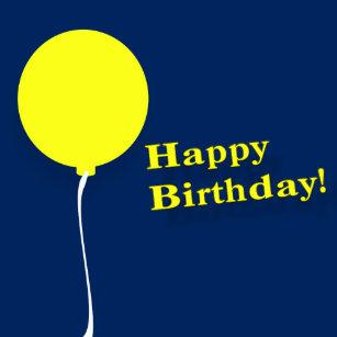Happy Birthday Yellow Balloons Wine Gift Box
