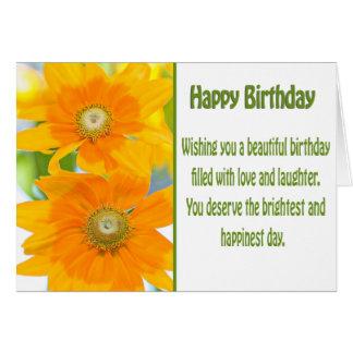 Happy Birthday Yellow Daisies Card
