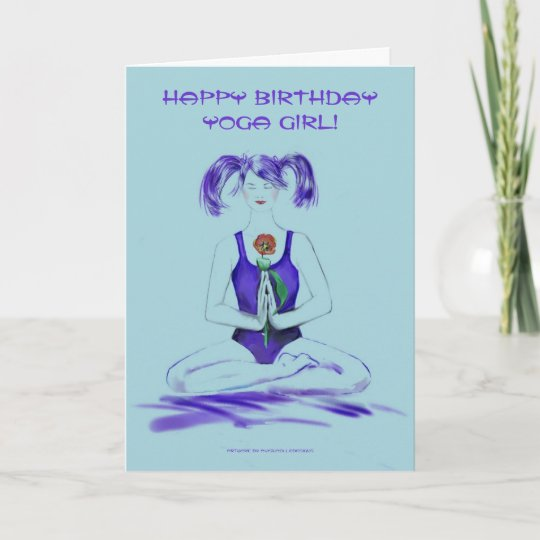 Happy Birthday Yoga Girl Card