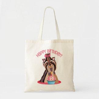 Happy Birthday Yorkie Bag