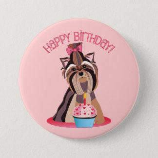 Happy Birthday Yorkie Button