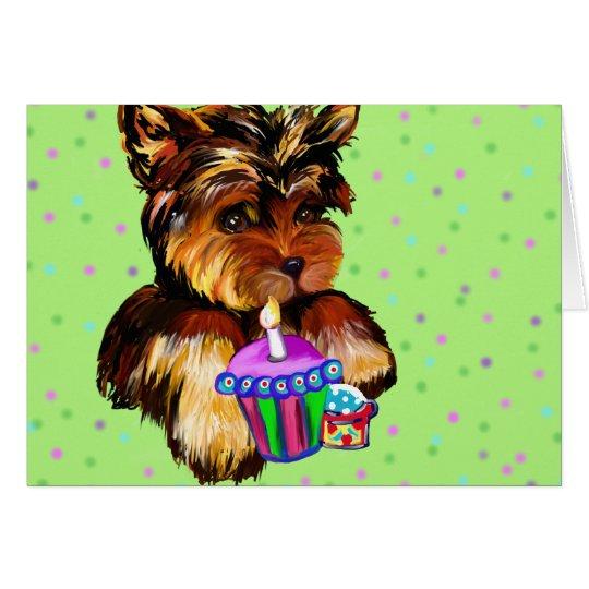 HAPPY BIRTHDAY YORKIE POO CARD