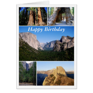 Happy Birthday, Yosemite National Park Collage Card