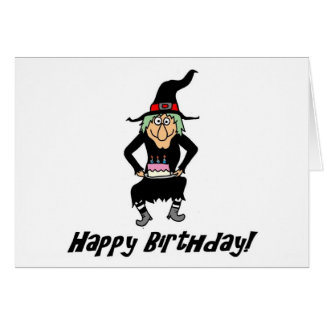 Happy Birthday You Old Witch Card
