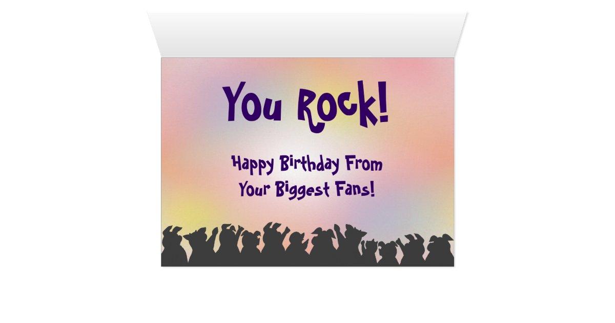 Happy Birthday! You Rock! Card