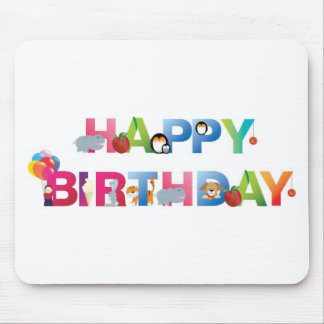 happy birthday young child style mouse pad