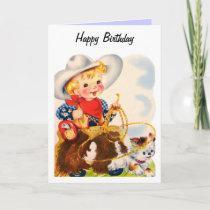 Happy Birthday - Young Cowboy Card