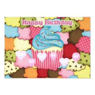Happy Birthday yummy cupcake Card