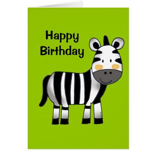 Happy Birthday (zebra) Greeting Card