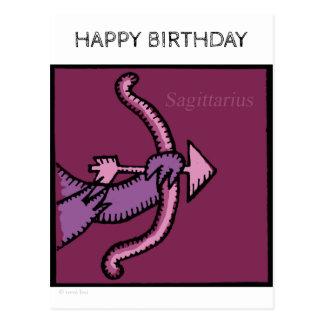 Happy Birthday Zodiac Sign Sagittarius Postcard
