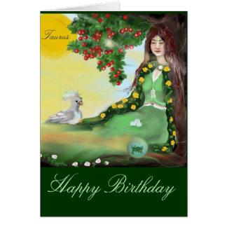 happy Birthday - zodiac signl Taurus Card