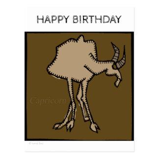 Happy Birthday Zodiac Signs Capricorn Postcard