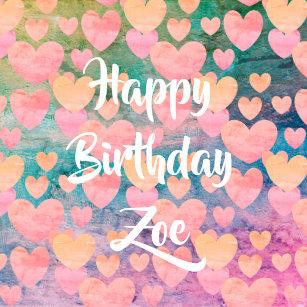 Happy Birthday Zoe Gifts On Zazzle