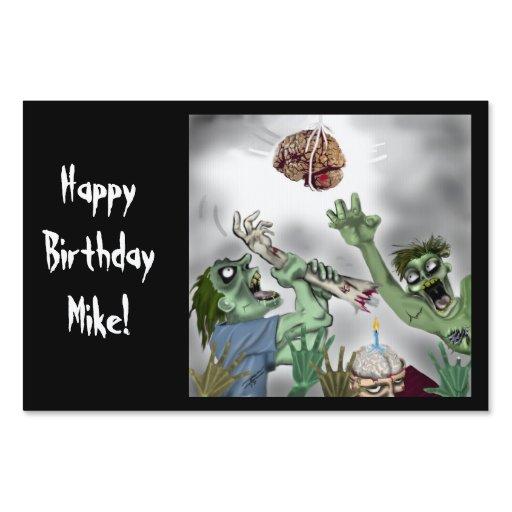 Happy Birthday Zombie Sign CUSTOMIZABLE