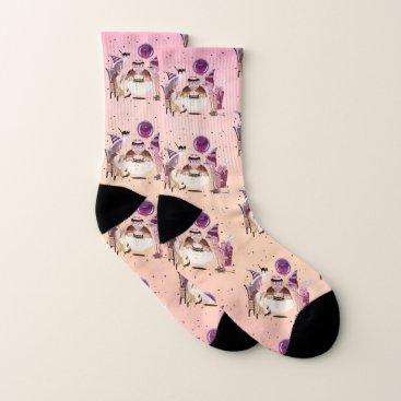 Happy Birthdy Frankie (pink-frosting) Socks