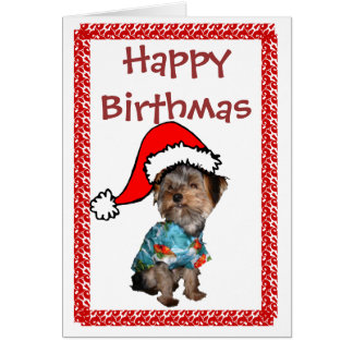 Happy Birthmas Greeting Card