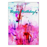 Happy Bithday frosting art card