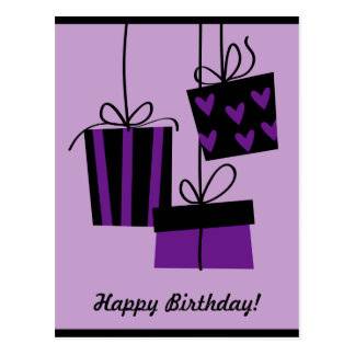 happy bithday - purple Postcard