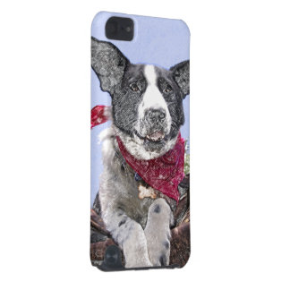 Happy Black and White Border Collie iPod Touch (5th Generation) Case