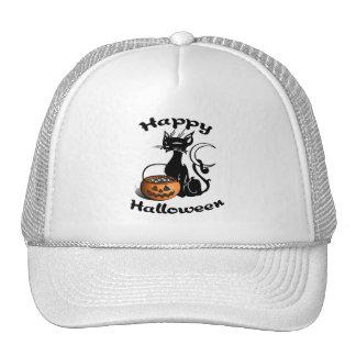 Happy Black Cat Mesh Hat