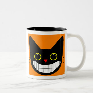 Happy Black Cat Mugs