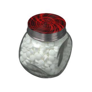 Happy, black red (C) Glass Jar