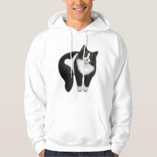 Happy Black & White Cat Hoodie