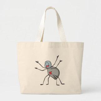 Happy Black Widow Spider Cartoon Bags