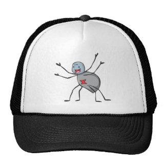 Happy Black Widow Spider Cartoon Mesh Hat