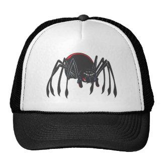 Happy Black Widow Spider Mesh Hats