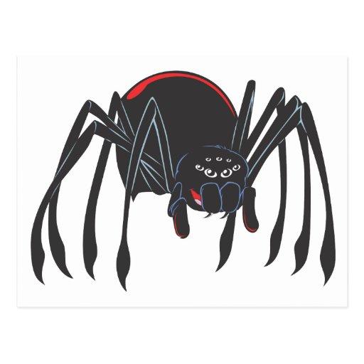 Happy Black Widow Spider Postcard