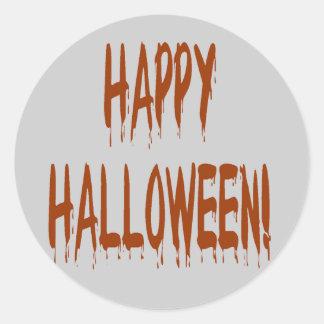 Happy Bloody Halloween Classic Round Sticker