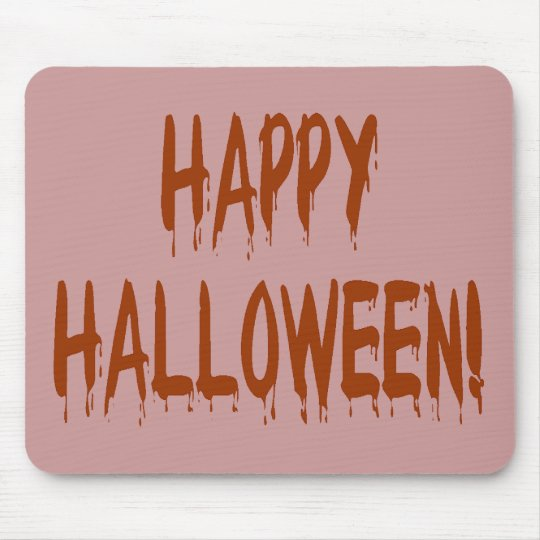 Happy Bloody Halloween Mouse Pad