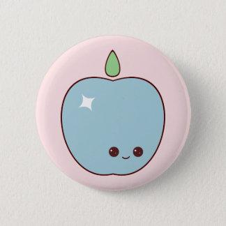 Happy Blue Apple Pin
