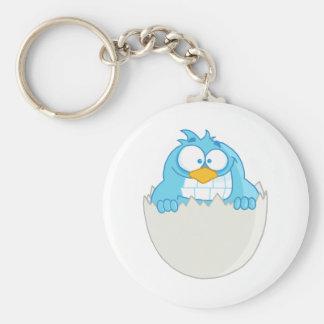 Happy Blue Bird Keychain