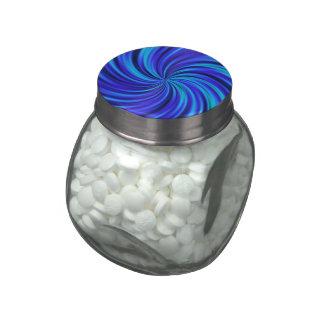 Happy, blue (C) Glass Jars