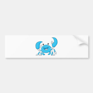 Happy Blue Crab Bumper Stickers