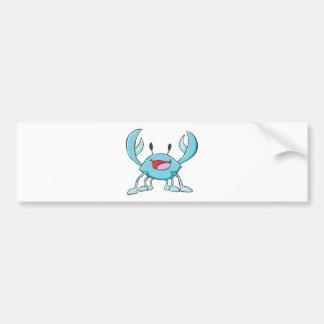 Happy Blue Crab Cartoon Bumper Stickers