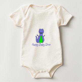 Happy Blue Dino Baby Bodysuit