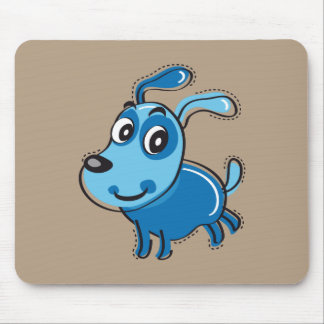 Happy Blue Dog Mouse Pad
