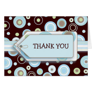 Happy Blue Dots Thank You Notecard Card