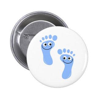Happy Blue Feet Pinback Button