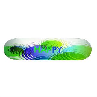 HAPPY Blue Green Deck Skate Decks